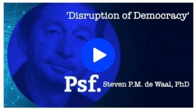 Photo of Steven de Waal on the (threatening) Disruption of Democracy – video