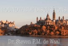 Photo of Steven de Waal in discussion about Civil Leadership in Ottawa