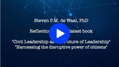 Photo of Steven de Waal on Civil Leadership as the Future of Leadership