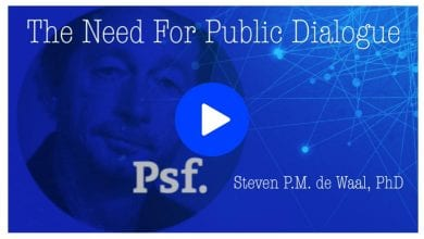 Photo of Steven de Waal on the Need for Public Dialogue
